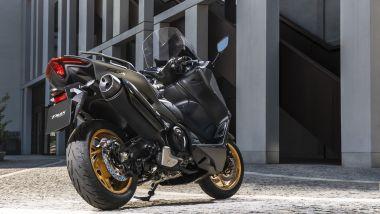 Yamaha Tmax 2020: il posteriore della versione Tech Max