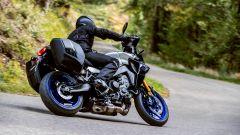 Yamaha Tracer 9 2021, la GT ha le borse rigide di serie