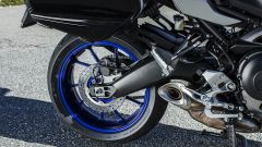 Yamaha Tracer 900 GT: dettaglio del forcellone