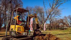 Yamaha: piantati gli alberi del bosco Yamaha ai giardini Lucarelli