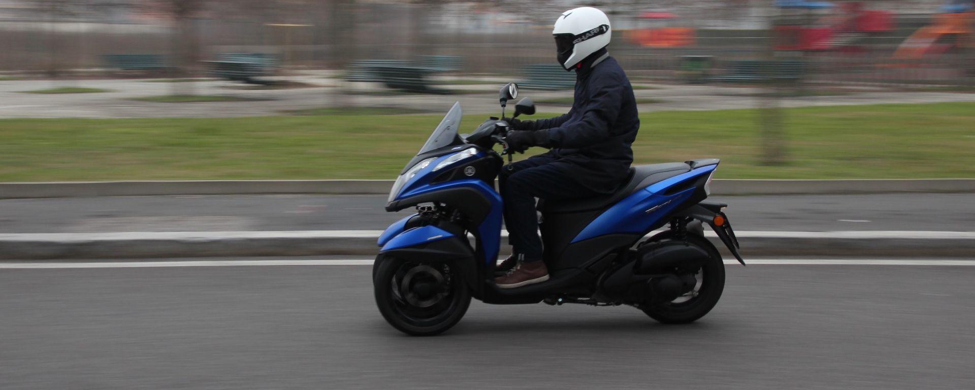 Yamaha Tricity 155, prova di durata