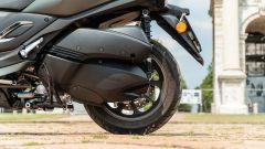 Yamaha Tricity 300, dettaglio del retrotreno