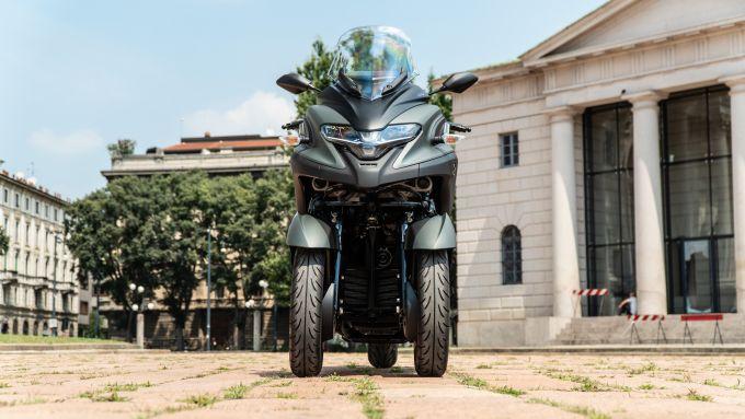 Yamaha Tricity 300, vista frontale