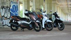 Yamaha X-Max 300, Honda SH 300i e Piaggio Beverly 300 Police