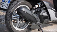 Yamaha Xenter 150, ruota posteriore