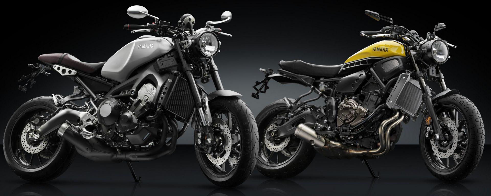 Yamaha XSR700 e XSR900 con accessori Rizoma