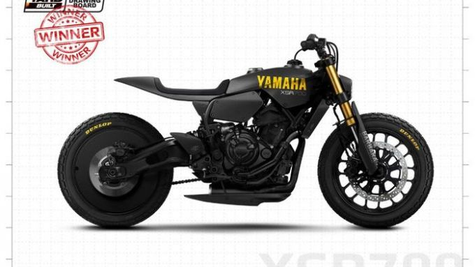 Yamaha Yard Built 2020, la moto vincitrice del concorso ''Back to the drawing board''