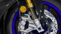 Yamaha YZF-R1M 2020, dettaglio dell'avantreno