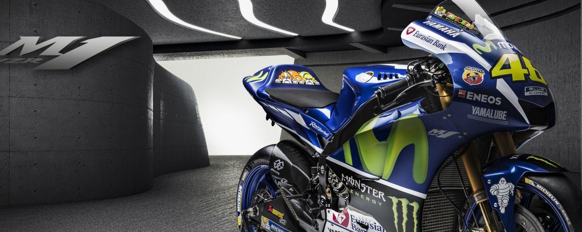 Yamaha YZR-M1 2016, la MotoGP di Rossi e Lorenzo