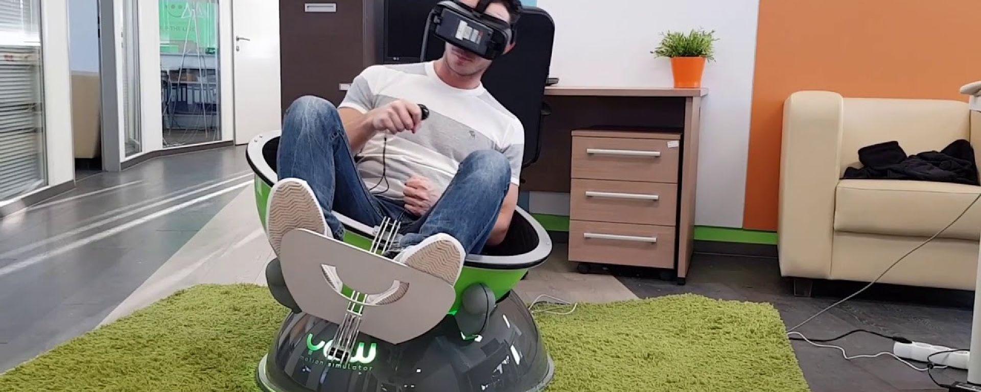Yaw VR da Industrial Cybernetics: un nuovo motion simulator per racing game e simulatori di volo