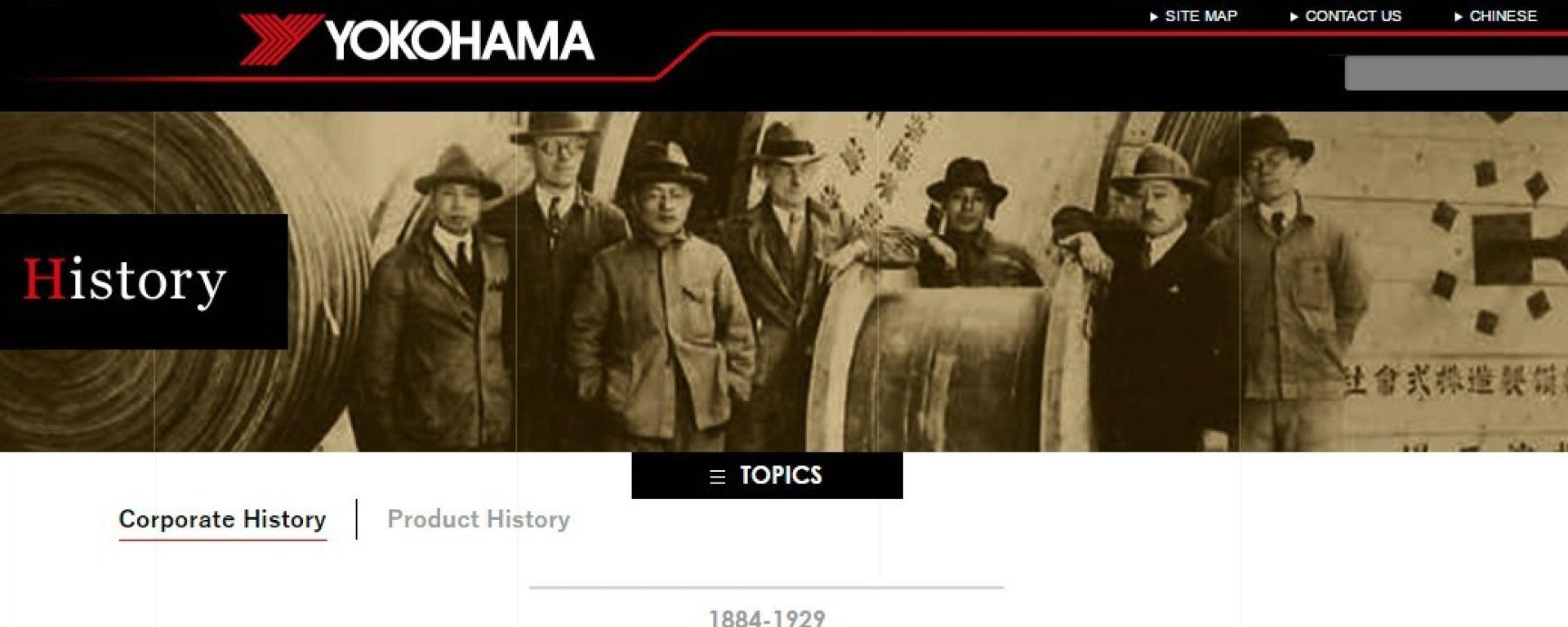 Yokohama: il sito per i 100 anni di storia dell'azienda