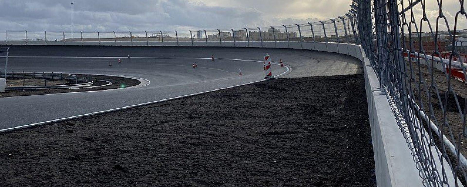 Zandvoort, i lavori al banking della curva 14