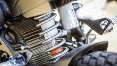 Zero Motorcycles DS 6.5: il mono posteriore e, dietro, il motore