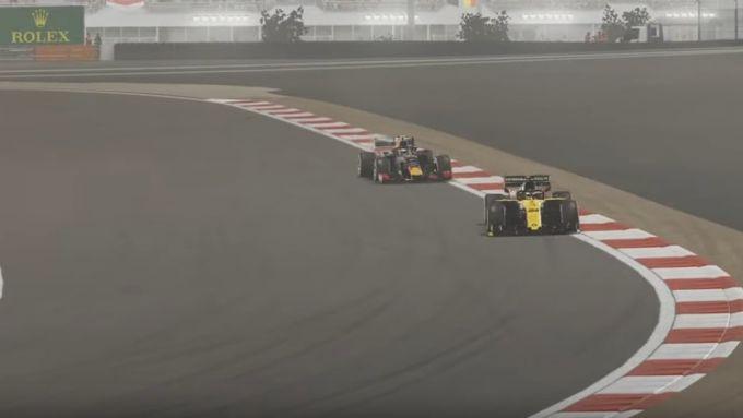 Zhou al comando del GP Bahrain 2020 virtuale
