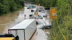 La zona del Nürburgring colpita dalle alluvioni in Germania
