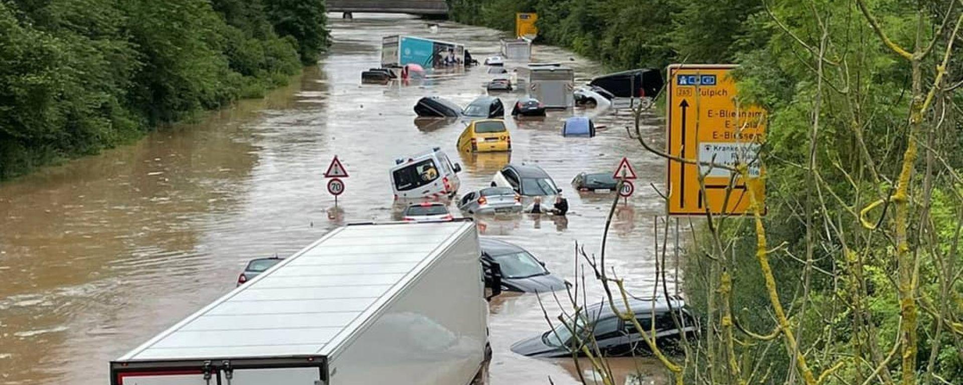 Anche la zona del Nürburgring colpita dalle alluvioni in Germania