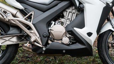 Zontes 310X:: il motore è un pimpante monocilindrico